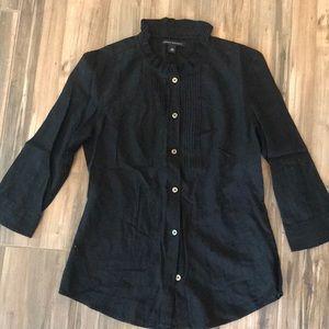 Black Long Sleeves Banana Republic Blouse XS